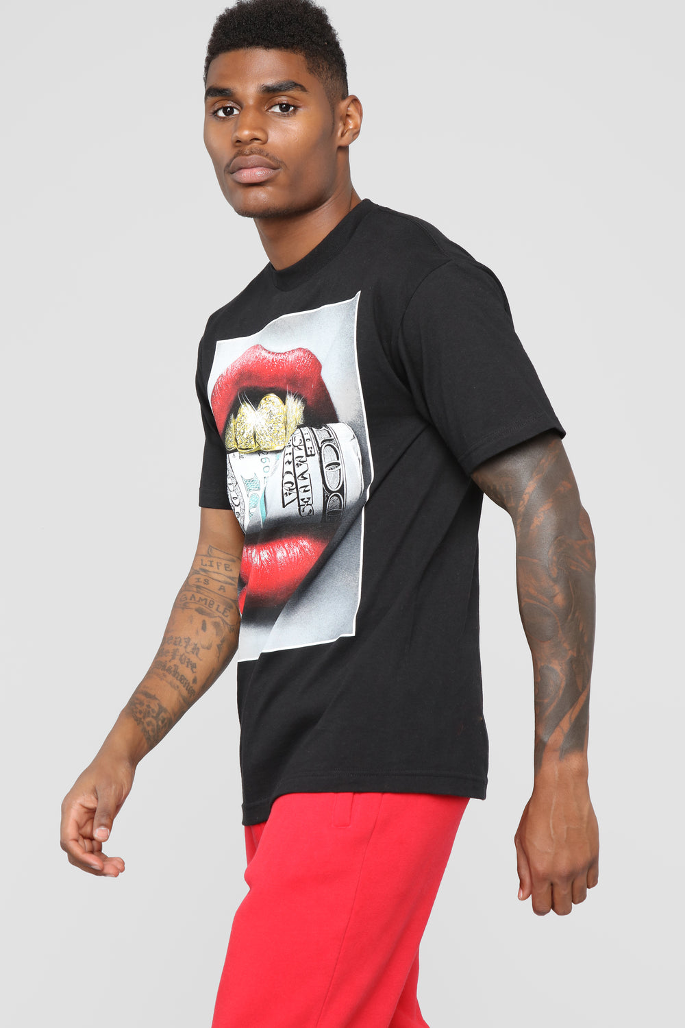 Grillz Short Sleeve Crew Tee - Black