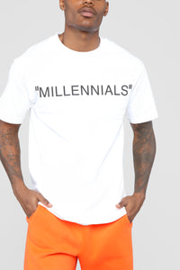 Year Of The Millennials Short Sleeve Tee - White Angle 1