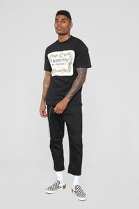 Hennything Is Possible Short Sleeve Crew Tee - Black Angle 3