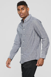 The Huntington Long Sleeve Flannel Top - Black