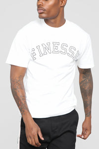 Finesse Short Sleeve Tee - White Angle 1