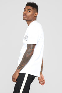 Finesse Short Sleeve Tee - White Angle 3