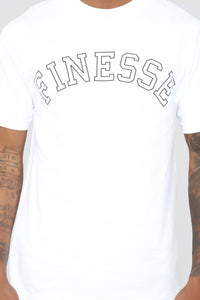Finesse Short Sleeve Tee - White Angle 6