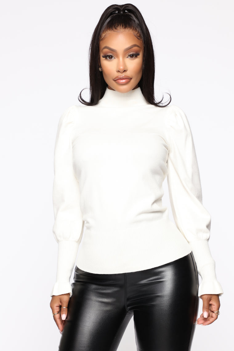 Double The Trouble Sweater - Ivory