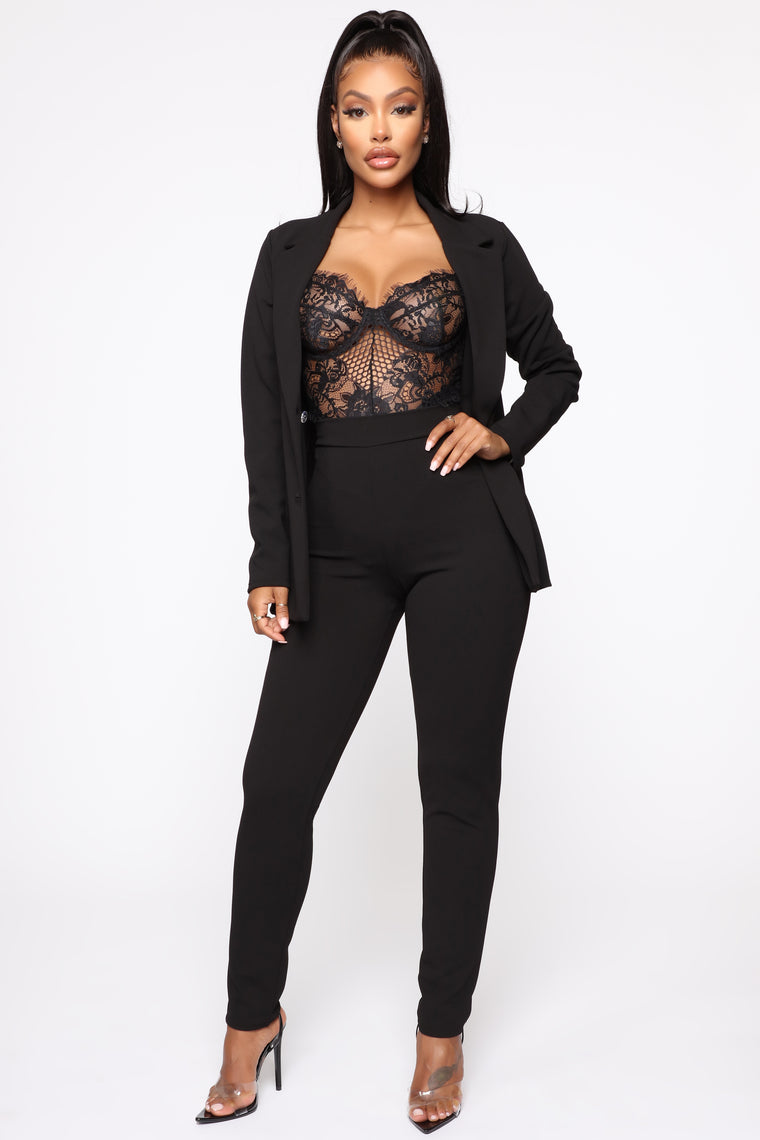 My Own Boss Suit Set - Black