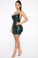 Start The Show Sequin Dress - Hunter
