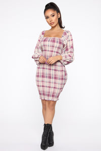 Casually Waiting Smocked Mini Dress - Pink/Combo