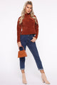 At Your Best Mock Neck Sweater - Cognac