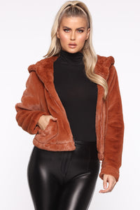 Never Felt Better Faux Fur Jacket - Camel