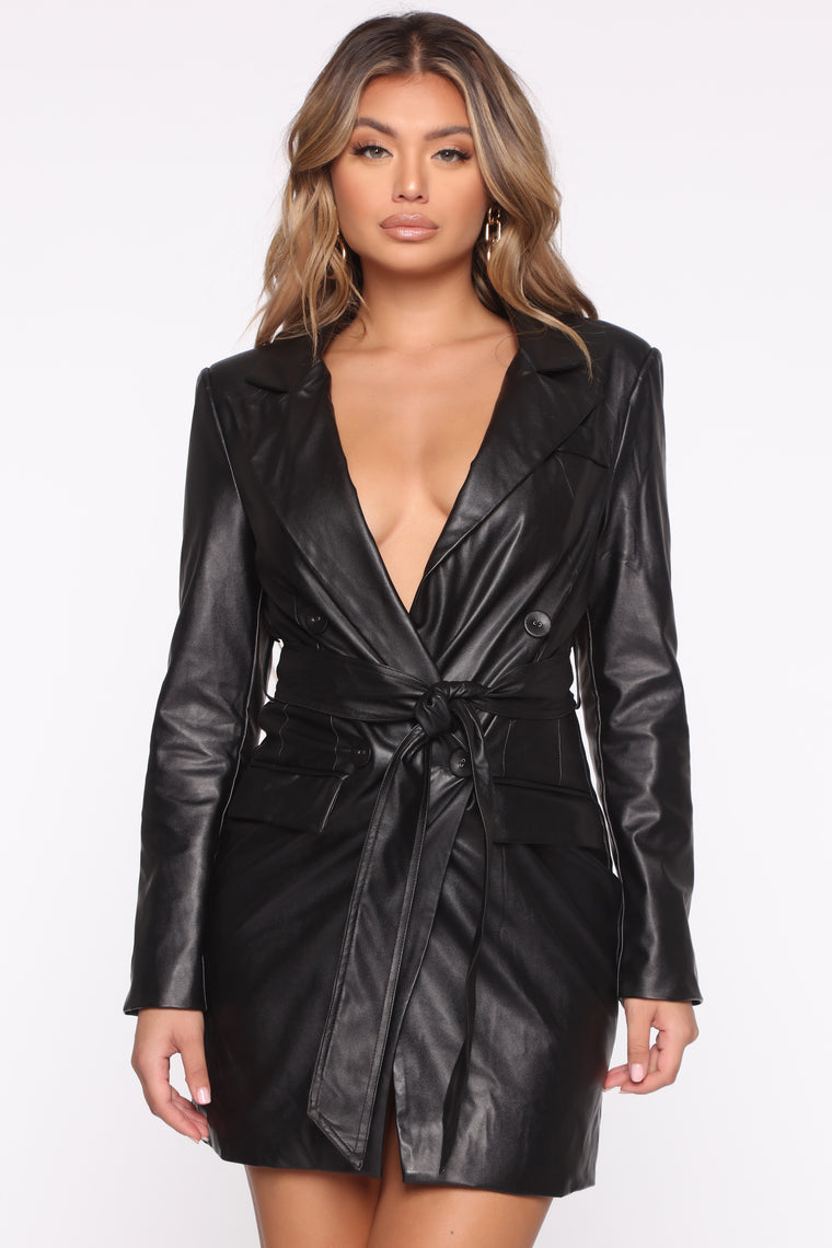 I'm Bossy Blazer Mini Dress - Black