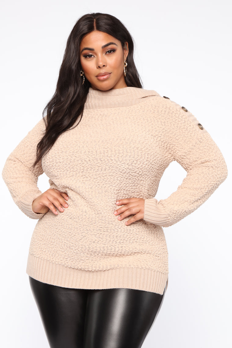 Chillin' Without You Tunic Sweater   Taupe by Fashion Nova