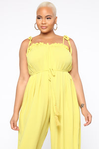 Mellow Out Harem Jumpsuit - Yellow