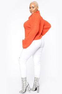 Getting To Know You Sweater - Orange
