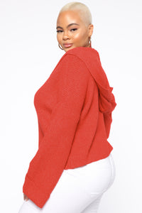 Bare Necessity Hoodie - Red Angle 4