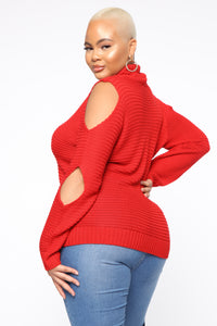 Feelin' This Good Sweater - Red