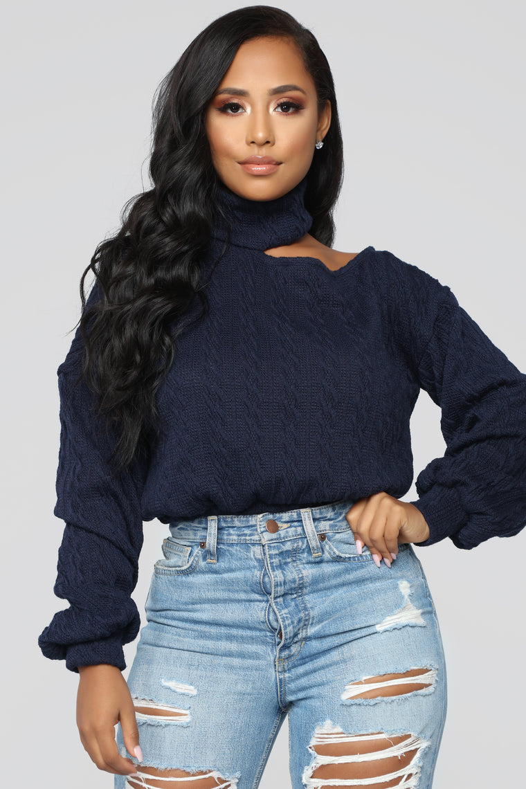Cut Me Off Sweater - Navy