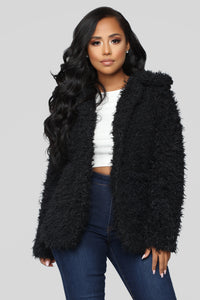 Great Feels Fuzzy Jacket - Black