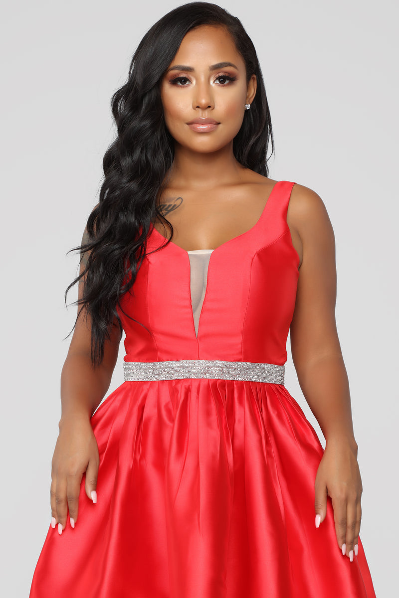 An Enchanted Night Maxi Dress - Red