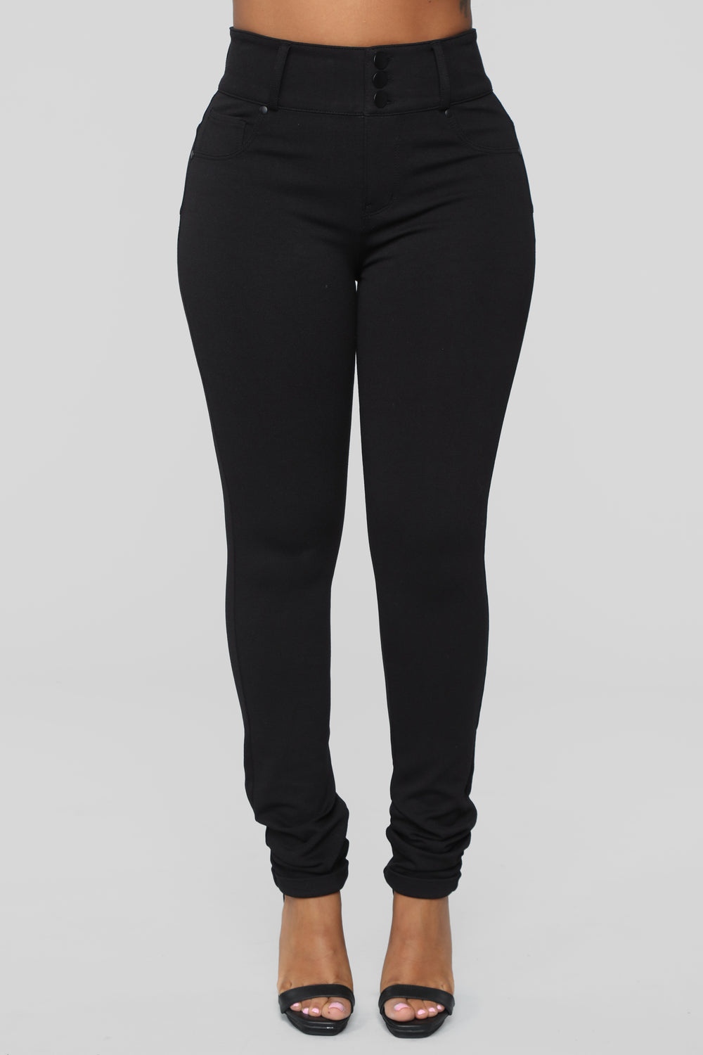It Is Real Booty Lifting Ponte Pants - Black