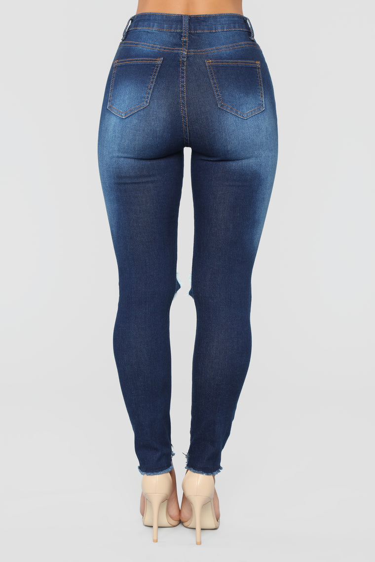 On The Run Skinny Jeans - Dark Wash