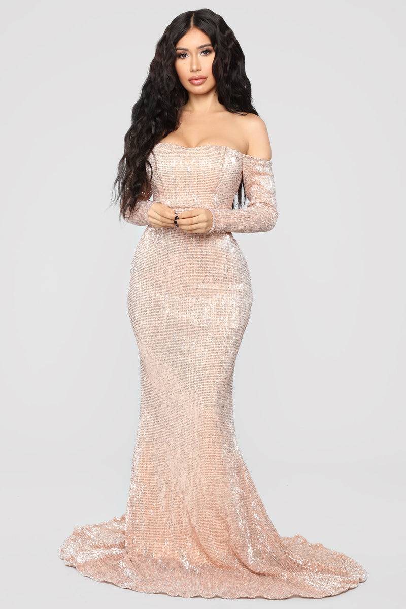 Got Class Sequin Dress - Rose