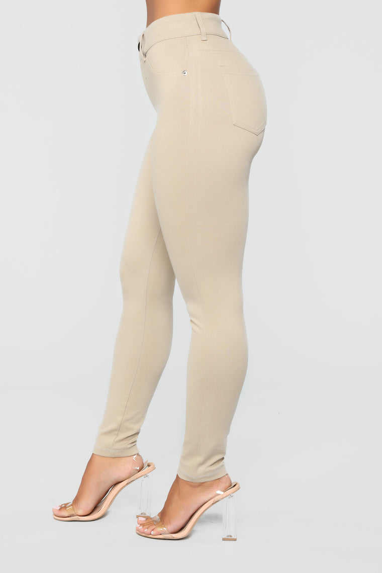My Every Occasion Ponte Pants - Khaki