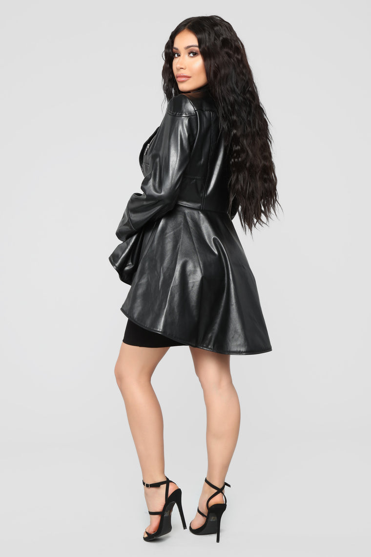 Jealous Peplum Jacket - Black