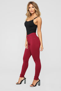 My Every Occasion Ponte Pants - Wine Angle 4