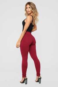 My Every Occasion Ponte Pants - Wine Angle 6