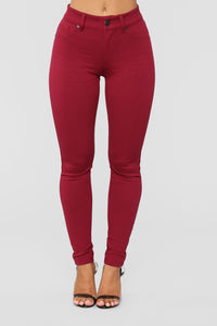 My Every Occasion Ponte Pants - Wine Angle 1