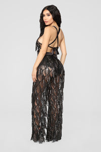 Only VIP Status Jumpsuit - Black