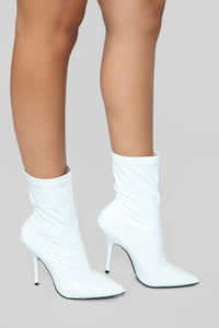 She Means Business Bootie - White