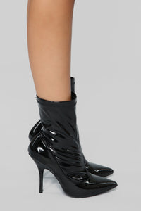 She Means Business Bootie - Black