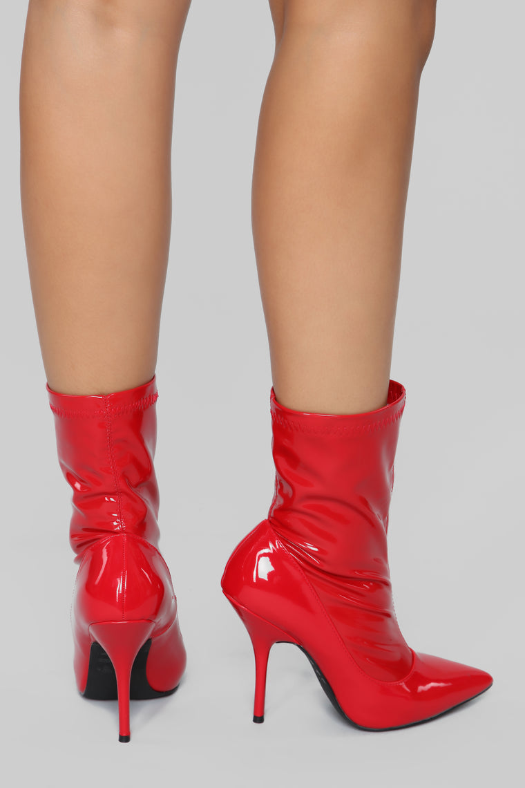 She Means Business Bootie - Red