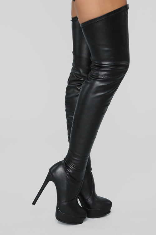 f0fd4701b4c Envious Much Faux Leather Heeled Boot - Black