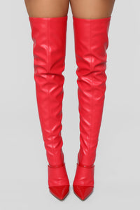 Leveling Up Boot - Red