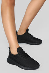 Kick Start Sneaker   Black by Fashion Nova