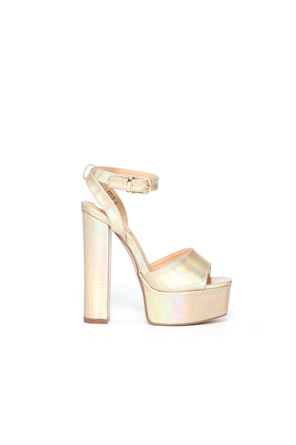I Know I Can Heel - Gold Snake Metallic
