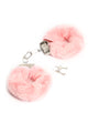 Fire Your Desire Faux Fur Handcuffs - Pink