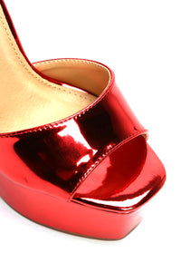 I Know I Can Heel - Red Metallic