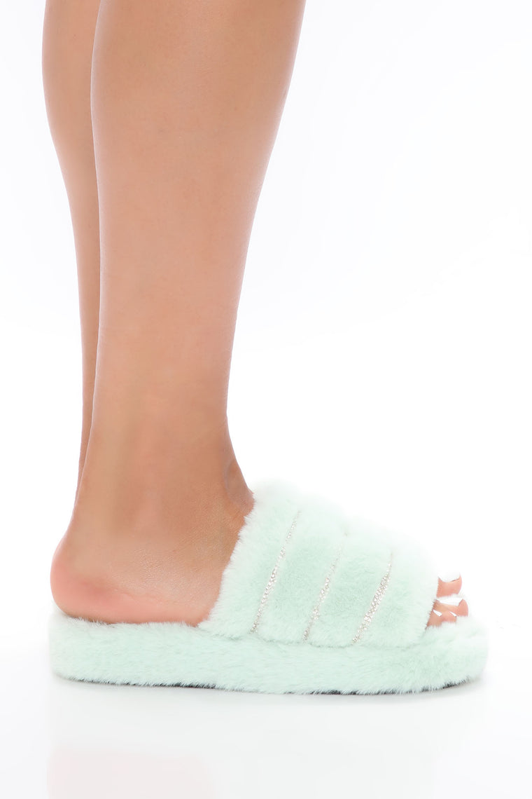 Stay Cozy Slippers - Mint