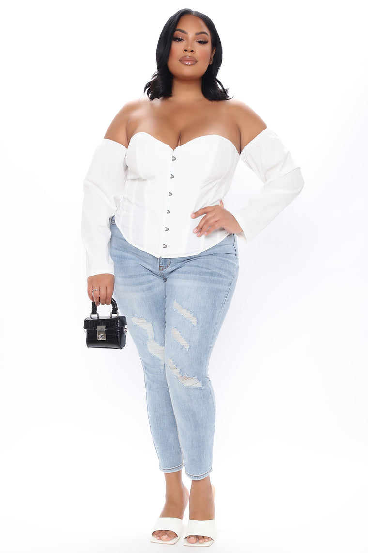 Dreamgirl Blouse - White