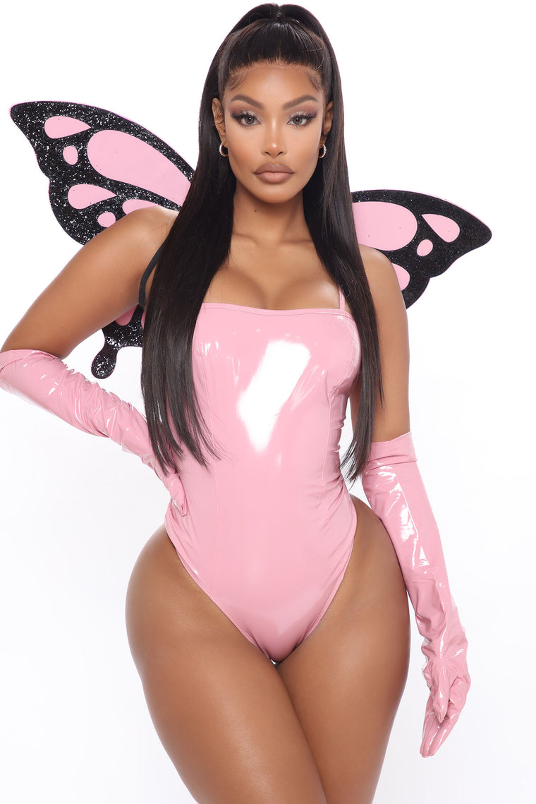 Fly Girl Butterfly 3 Piece Costume Set - Pink