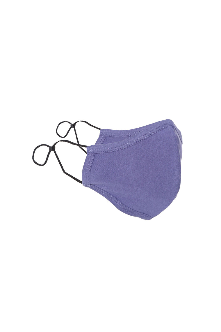 Adjustable Solid Face Mask - Lilac