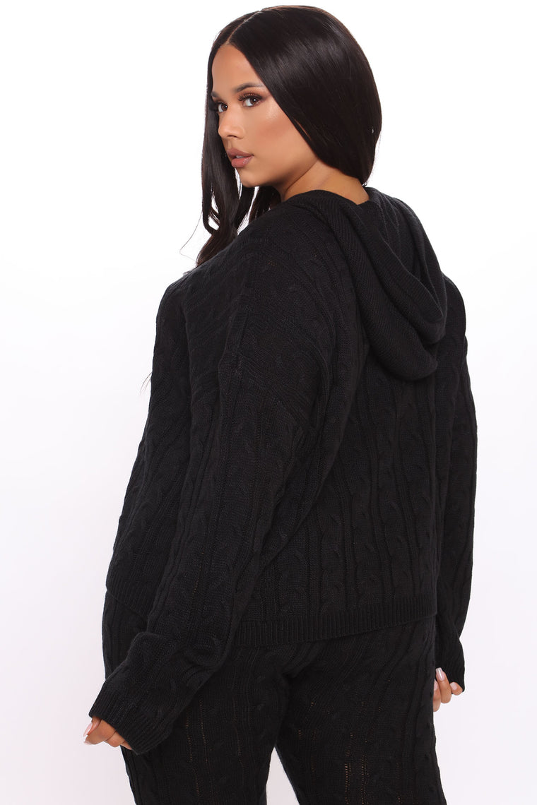 Can You Knit It Sweater Set - Black