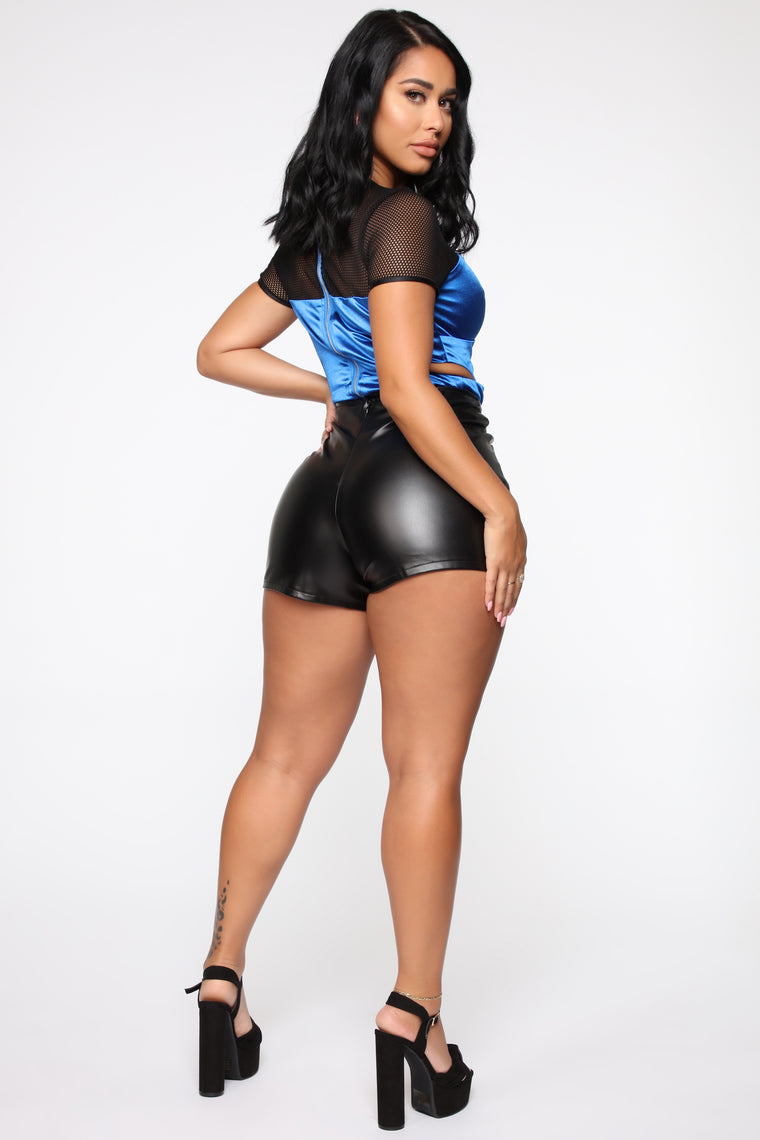 The Flyest In The Game Bodysuit - Blue/combo