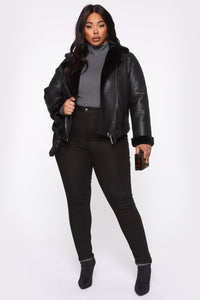 Caught You Off Guard Moto Jacket - Black Angle 8