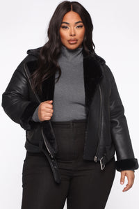 Caught You Off Guard Moto Jacket - Black Angle 7