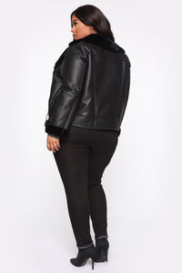 Caught You Off Guard Moto Jacket - Black Angle 11