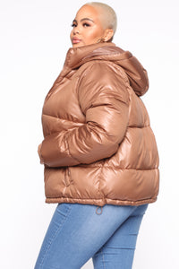 Don't Rain On My Puffer Jacket - Camel Angle 9